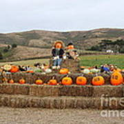 Halloween Pumpkin Patch 7d8478 Print by Wingsdomain Art and Photography