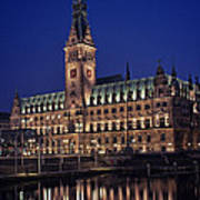 Hamburg City Hall Print by Benjamin Matthijs