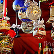 Handcrafted Mouth Blown Christmas Glass Balls Print by Christine Till