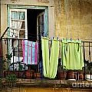 Hanged Clothes Print by Carlos Caetano