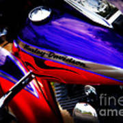 Harley Addiction Print by Susanne Van Hulst