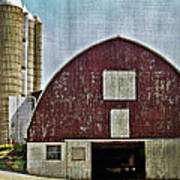 Harvest Barn Print by Kathy Jennings