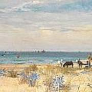 Harvesting The Land And The Sea Print by William Lionel Wyllie