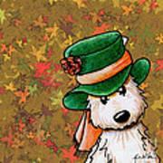 Hat Season Cairn Terrier Print by Kim Niles