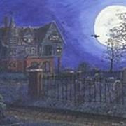 Haunted House Print by Lori  Theim-Busch