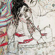 He Sleeps Print by Evgeniya Zueva