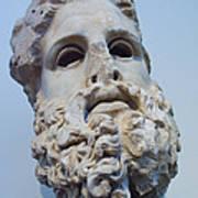 Head Of Zeus At The Acropolis Museum Print by Richard Nowitz