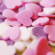 Heart Shaped Candies Print by Rolfo