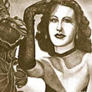 Heddy Lamar Print by Debbie DeWitt