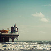 Helter-skelter On Brighton Pier  Print by Paul Grand