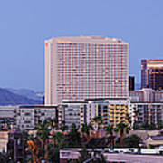 High Rise Buildings Of Downtown Phoenix At Sunrise Print by Jeremy Woodhouse
