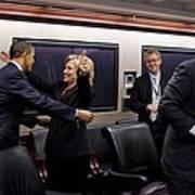 Hillary Clinton Joyfully Congratulates Print by Everett