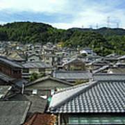 Hillside Village In Japan Print by Daniel Hagerman