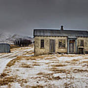 Historic Farm After Snowfall Otago New Print by Colin Monteath