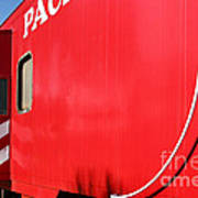 Historic Niles District In California Near Fremont . Western Pacific Caboose Train . 7d10724 Print by Wingsdomain Art and Photography