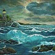 Hobson's Lighthouse Print by Ave Hurley