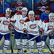 Hockey Art At Bell Center Montreal Print by Carole Spandau