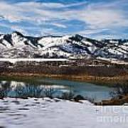 Horsetooth Reservoir Winter Scene Print by Harry Strharsky