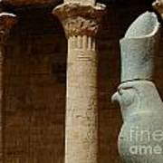 Horus Temple Of Edfu Egypt Print by Bob Christopher