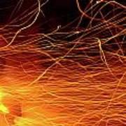Hot Sparks Print by Carlos Caetano