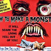 How To Make A Monster, Half-sheet Print by Everett