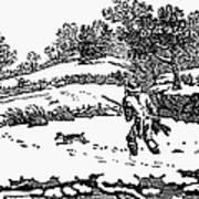 Hunting: Winter, C1800 Print by Granger