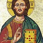 Icon Of Jesus As Christ Pantocrator Print by Ion vincent DAnu