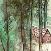 Imaginary Cabin Print by Windy Mountain