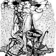 In The Rain Print by Ievgeniia Lytvynovych