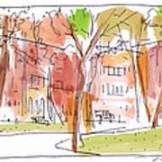 Independence Park Philadelphia Print by Marilyn MacGregor