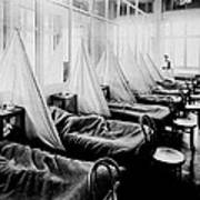 Influenza Ward Print by Usa Library Of Medicine