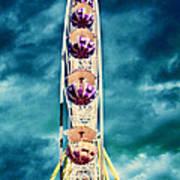 infrared Ferris wheel Print by Stelios Kleanthous