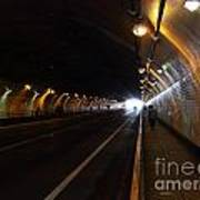 Inside The Stockton Street Tunnel In San Francisco . 7d7363.3 Print by Wingsdomain Art and Photography