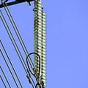 Insulators On An Electricity Pylon Print by Paul Rapson