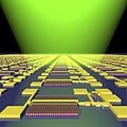 Integrated Nanowire Circuit, Artwork Print by Lawrence Berkeley National Laboratory