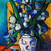 Irises Print by Mona Edulesco