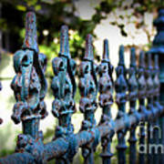 Iron Fence Print by Perry Webster