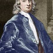 Issac Newton, English Physicist Print by Sheila Terry