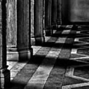Italian Columns In Venice Print by McDonald P. Mirabile