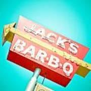 Jack's Bar-b-q Print by David Waldo