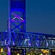 Jacksonville Skyline Print by Debra and Dave Vanderlaan