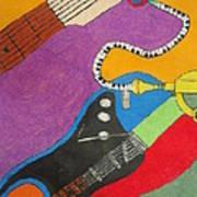 Jazz Trio Print by Derril Foster
