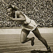 Jesse Owens Print by American School