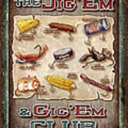 Jig' Em Gig' Em Print by JQ Licensing