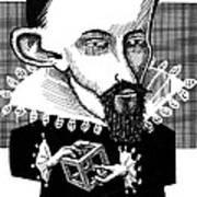 Johannes Kepler, Caricature Print by Gary Brown