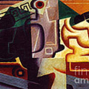 Juan Gris Glas Und Karaffe Print by Pg Reproductions