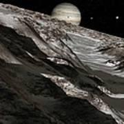 Jupiter From Ganymede, Artwork Print by Detlev Van Ravenswaay