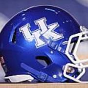 Kentucky Wildcats Football Helmet Print by Icon Sports Media