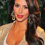 Kim Kardashian At Arrivals For Qvc Red Print by Everett