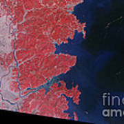 Kitakami River, Japan, After Tsunami Print by National Aeronautics and Space Administration